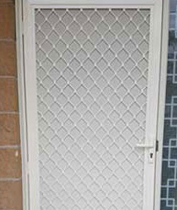 Restricted Vision Mesh Door
